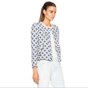 IRO Handi Cotton leather diamond textured jacket